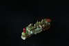Lighted Set of 3 reactive glazed Christmas train