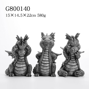 3/A Small Size Polyresin Dragon Deco