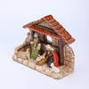 Porcelain Nativity 5pc Set with Creche