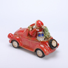 Lighted Reactive glazed Vintage Holiday Vehicle with Christmas Tree - Tabletop Holiday Decoration (Truck)