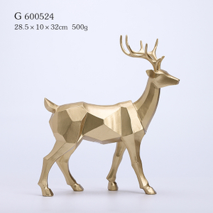 Polyresin Christmas Deer in Gold