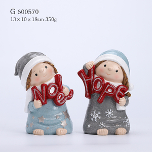 2/A Polyresin Christmas Kids