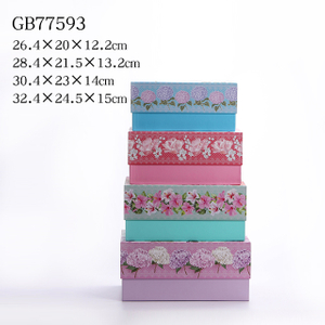 4pcs Nesting Rectangle Boxes
